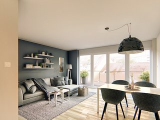 cosy grey apartment 'comfort double'