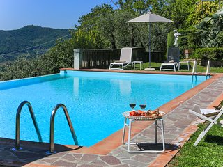 Villa Dell'Angelo 8 in Lucca with swimming pool, AirCo, views ideal for families
