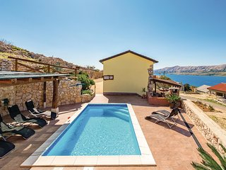 Awesome home in Novalja w/ WiFi, Outdoor swimming pool and 4 Bedrooms (CKP832)