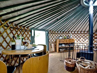 Yurt 6, East Thorne Farm, Bude - A Mongolian yurt with a breathtaking interior,