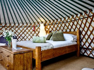 Yurt 3, East Thorne, Bude - Experience glamping in a beautiful setting, at East