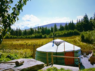 Luxurious yurts in stunning mountain forest location - off grid eco retreat