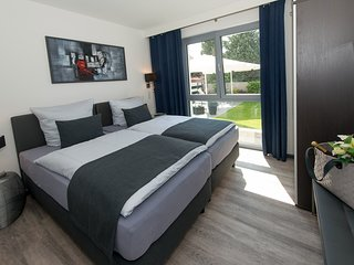 Premium-Ferienwohnung 'Garten' - barrierefrei! Apartmenthaus Horster in Bensheim