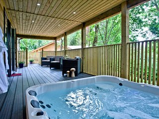 Cedar Lodge, South View Lodges, Exeter - An idyllic lodge for two, with lakeside