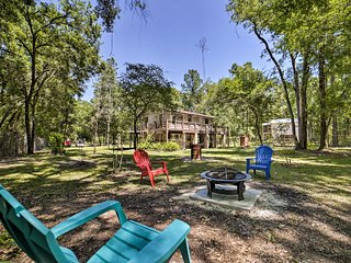 NEW! 1.5-Acre O'Brien Home w/ Fire Pit - by River!