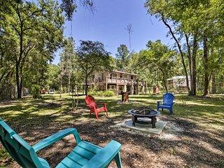 1.5-Acre O'Brien Home w/ Fire Pit, Near River!