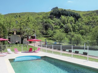 Amazing home in St Pierre de Colombier w/ WiFi, Outdoor swimming pool and 6 Bedr
