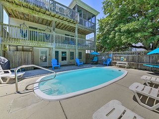 Spacious Home w/ Game Room - Walk to Beach!