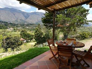 Casa del Sol. Hermoso apartamento campestre, independiente  en Villa de Leyva