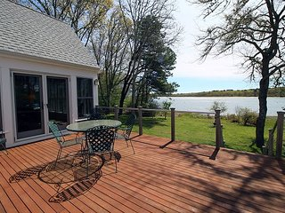 ENJOY WATERVIEWS OF SENGENKONTACKET POND FROM THE WONDERFUL DECK