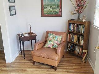 reading corner in living room