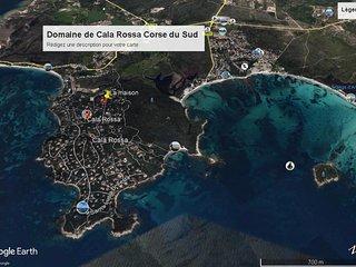 Location CORSE du sud maison 8/10 couchages domaine Cala Rossa 400m plages