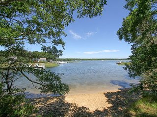 Monomoscoy Island 3BR w/ Private Beach & Water Views - Steps to Little River