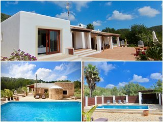 Beautiful Ibiza style 5 bedrooms villa, centrally located in a peaceful area