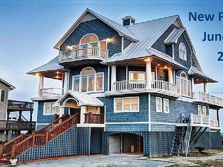 New River Inlet Rd 1042 Oceanfront!   Hot Tub, Jacuzzi, Internet Discounts Avail