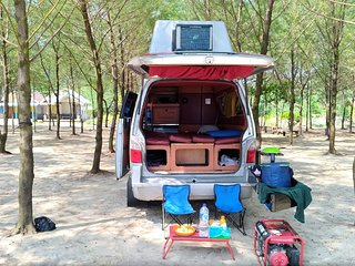 Campervan for hire. Let's have a roadtrip java bali