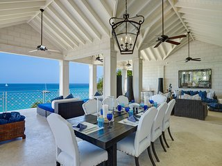 Beachfront luxury 4 bedroom apartment with outside heated jacuzzi pool.