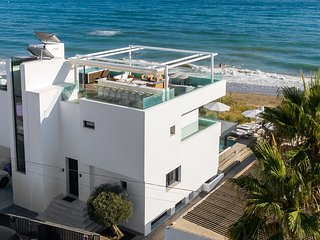 Luxury Frontline Beach Villa in Costabella, Marbella East, Private Dunes, Pool