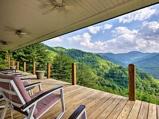 Private Blue Ridge Home w/Mountain Views & Hot Tub