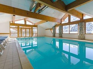 Accès Piscine couverte + Sauna | Chalet Triplex à 50m des pistes !