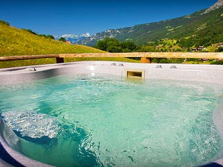 Enjoy views from the hot tub or relax at this cosy 4* chalet - OVO Network