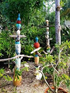 Sarah's driftwood garden art