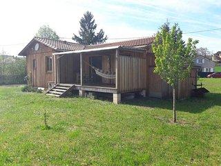 Maison bois près Montignac Lascaux. Dordogne. Périgord