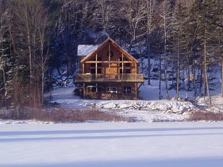 New Lakefront Cedar Log Home