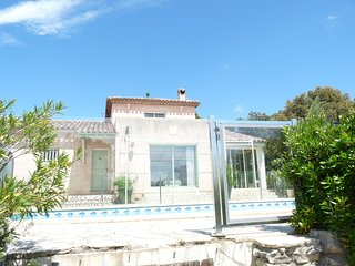 Modern villa in traditional style situated in a quiet hamlet with private pool