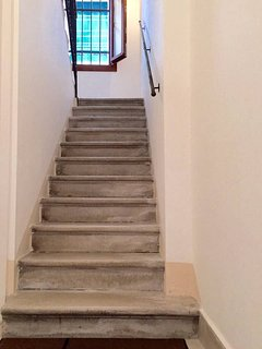 Lovely original marble stairwell leading to the second floor - 33 steps. (Shared with one apartment)