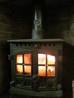 Cozy Wood Burner in the sitting room
