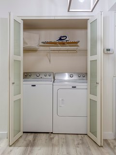 Laundry room, iron and ironing board