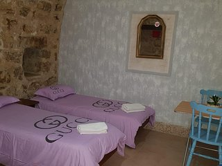 Deluxe Triple Room in Antique Guest House in Nazareth Israel