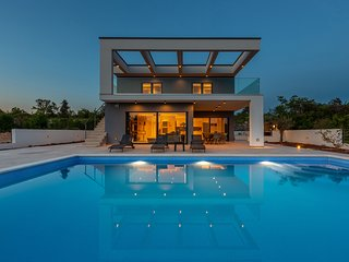 Modern Villa Quadra, on the Island of Krk