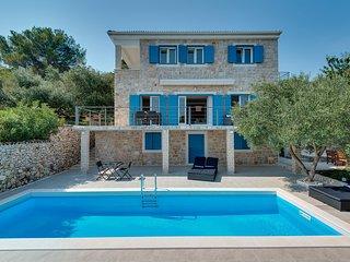Stone Villa Marceline, in Dalmatia,with a Pool