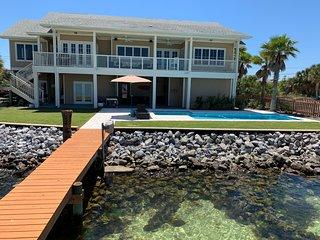 New Waterfront Luxury Listing!  Pool, Dock, Golf Cart, 5B/3.5BA