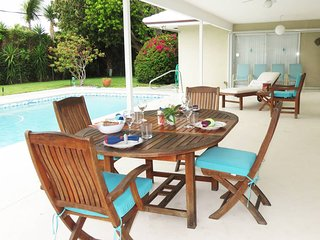 Spacious villa with private pool, water views and walk to beach