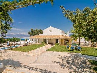 Villa Rastoni | Sunny Family Villa, Heated pool, Top Views of Kalami beach
