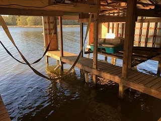 Keepin' It Reel. 4 BR waterfront home with 2 slip boathouse