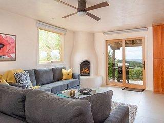 Luxury Mountain-View Pueblo Estate with Courtyard, Hot Tub & 3 Fireplaces