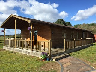 The Log Cabin, Wideham Farm, West Stow, close to Bury St Edmunds.