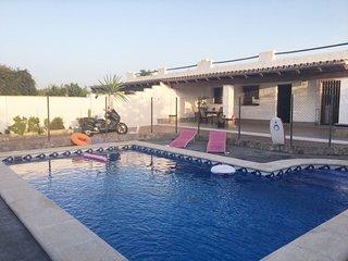 villa with private pool near the village