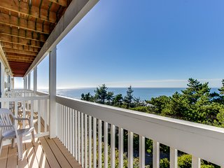Dog-friendly condo boasts ocean views, easy beach access & more!