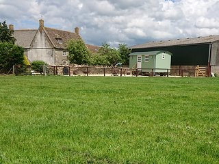 Shepherds Hut on Cotswold Farm near Castle Combe