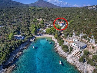 Two bedroom apartment Cove Milna (Zastrazisce) (Hvar) (A-17417-a)