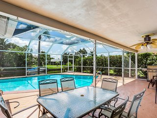 Sunny & bright canalfront home w/ private pool, furnished patio, & dock