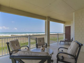 Dog-friendly, waterfront condo with Great Beach views, shared pool, & hot tub!