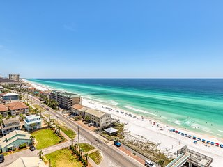 Gulf front condo with shared pool, hot tub, and beach access
