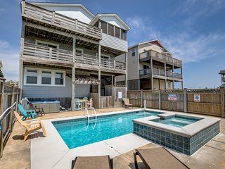 Fair Winds | 376 ft from the beach | Private Pool, Hot Tub | Nags Head