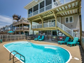 Fins Up | 630 ft from the beach | Private Pool, Hot Tub | Nags Head